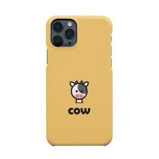 うし(ベージュ) Smartphone cases