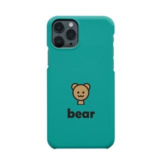 クマ(エメラルドグリーン) Smartphone cases