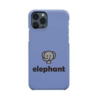 morecolorfulのゾウ(ブルー) Smartphone cases