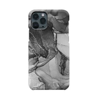 楼(モノクロver.) Smartphone cases