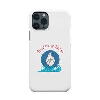 Surfing Boy 波ロゴ Smartphone cases