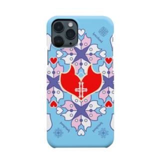 浪漫花-QUEEN-/アクア/スマホケース Smartphone cases