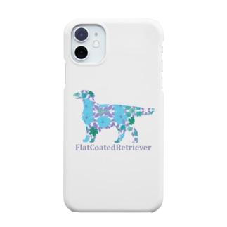 花 フラットコーテッドレトリバー Smartphone cases