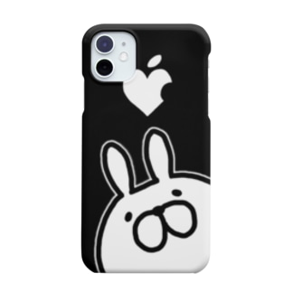 モノクロレプゥー ブラック Smartphone cases
