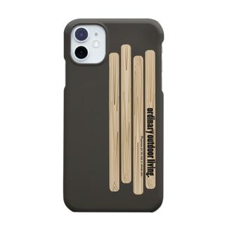 木のiphoneケース(preparing for the trip is alwais fun) Smartphone cases