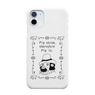 豚思う、ゆえに豚あり~Pig think,therefore Pig is.~ Smartphone cases