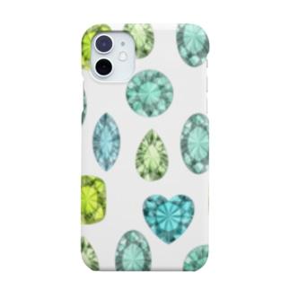 ぎっしりな緑色の宝石たち Smartphone cases