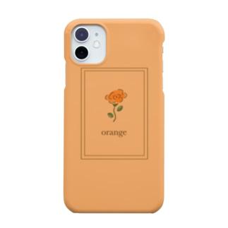 オレンジ推し 一輪バラ① Smartphone cases