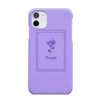 紫推し 一輪バラ① Smartphone Case