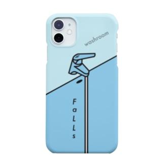 『洗面所の滝』(iPhone11以降モデル推奨) Smartphone cases