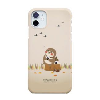 aliveONLINE SUZURI店のだいきちの休日 Smartphone cases