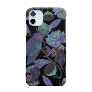 蝉と蓮 Smartphone cases