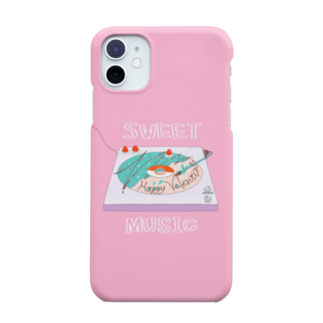 ぷんつくりーのドーナツ盤はあまい音楽を Smartphone cases