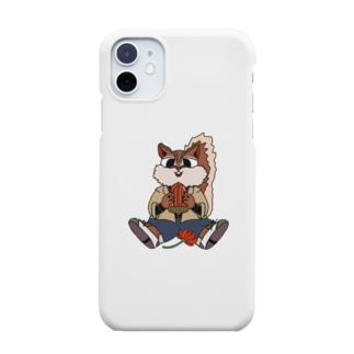 リス×どんぐり Smartphone cases