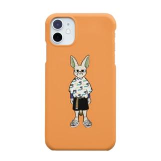 フェネック×柄シャツ Smartphone cases