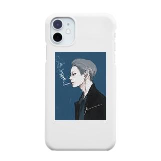男心 blue Smartphone cases