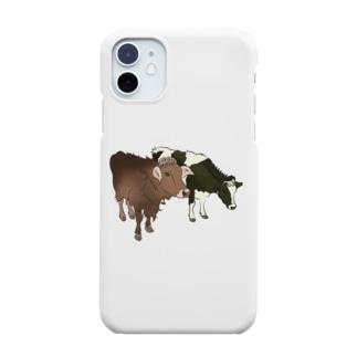 2匹の牛 Smartphone cases