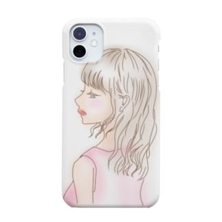 春の横顔〜カラー〜 Smartphone cases