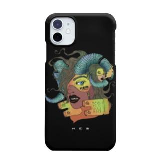 HElll - ヘル - のnightmare 《閃》 ハードタイプ 黒ver. Smartphone cases