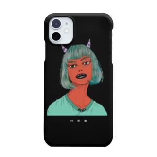 Devil Girl   ハードタイプ 黒ver. Smartphone Case