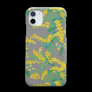 machinoniwaのミモザ グレー Smartphone cases