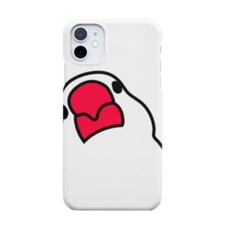 iPhone11 文鳥スマホケース  Smartphone cases