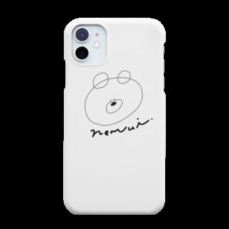madoromiのねむいくまのグッズ Smartphone cases