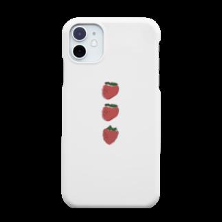 nutsの1列整列苺 Smartphone cases