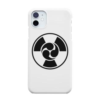 放射線に三つ巴 B Smartphone cases