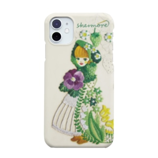 (iphone11/11Pro/11Pro Max)苺と花のケープ Smartphone cases