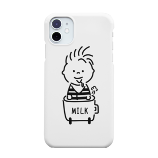 AliviostaのBaby in car 赤ちゃんミルク イラスト Smartphone cases