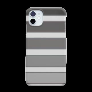 Sorapolice_pinopoliceのストライプモノトーン Smartphone cases