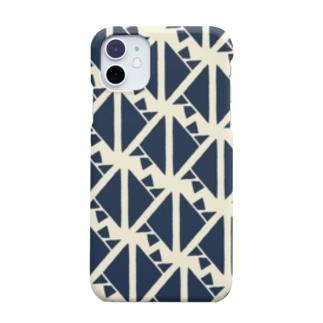 サーヴィエ行進曲 藍 Smartphone cases