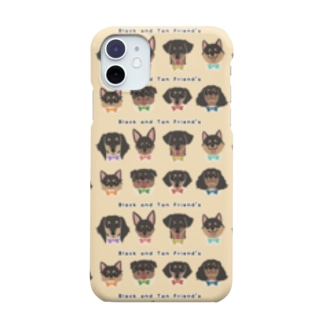 Black and Tan Friend's(総柄2) Smartphone cases