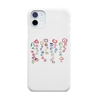 ヲシテ文字のアワ歌 Smartphone cases