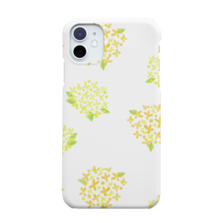 Fummy Goodsのボタニカル 黄色の紫陽花 Smartphone cases