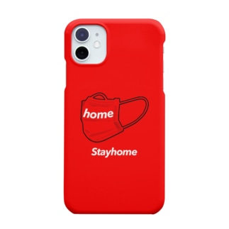 Stayhome × mask (Red) Smartphone cases