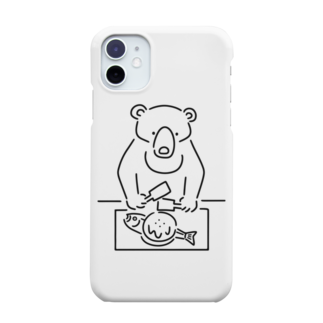 Aliviostaのお好み焼き クマ イラスト Smartphone cases