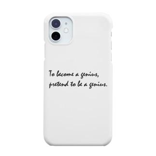 ダリ名言(天才になるには天才のふりをすればいい) Smartphone cases