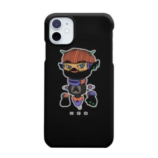 チビ惡魔くん スマホケース 黒ver.(全身) Smartphone cases