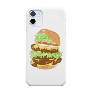 サン・アートエンターテインメントのハンバーガースマホケース Smartphone cases
