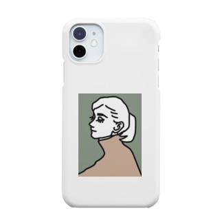 女の人 横顔 Smartphone cases
