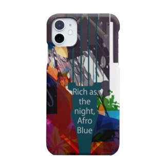 Afro Blue (iPhone11用) Smartphone cases