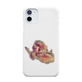 海老太郎のトイプードルのくぅちゃん Smartphone cases