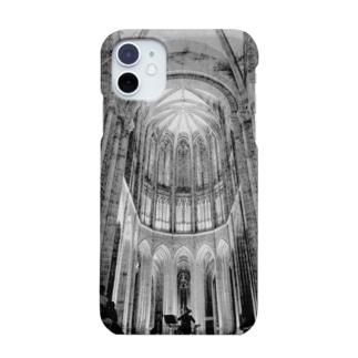 フランスの教会の 或る夜の 音楽会  monochrome_ver. Smartphone cases