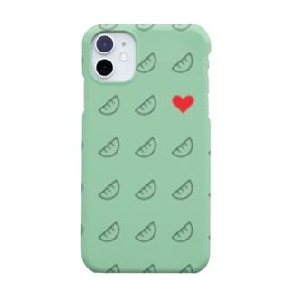 およげ!ぎょうざちゃん🥟ミントグリーンver. Smartphone cases