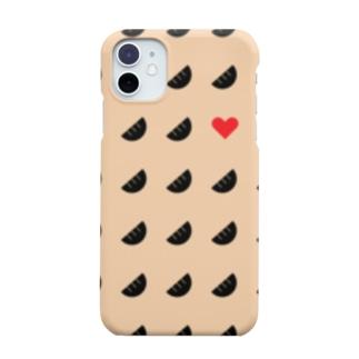 およげ!ぎょうざちゃん🥟ベージュver. Smartphone cases