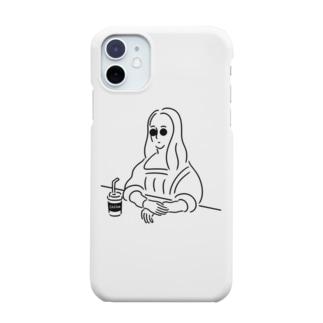 モナリザ イラスト Smartphone cases