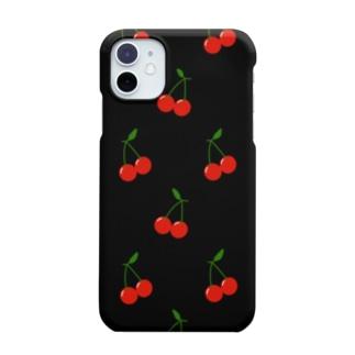 Cherry  Black Smartphone cases