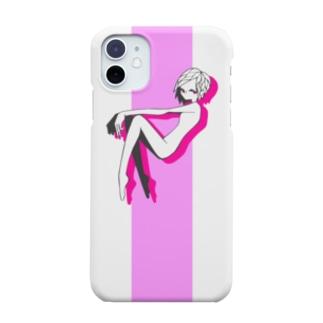ピンク色ガール Smartphone cases